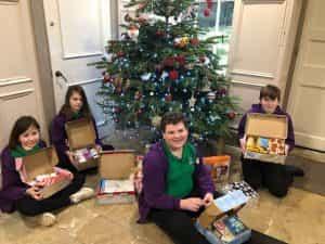 Year 7 students' Reverse Advent Calendars